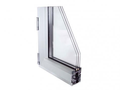 E75P-C16. Sistema abisagrado de aluminio
